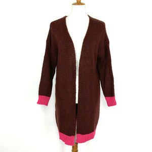 Niccolai Cardigan Sweater S Cranberry With Fucshia